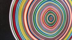 Hypnotic cirkle. Bright colours. frame 50 50cm.