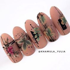 20 Hottest & Catchiest Nail Polish Trends in 2019 Nail Art Designs Videos, Diy Nail Designs, Butterfly Nail, Flower Nail Art, Autumn Nails, Fall Nail Art, Art Deco Nails, Nail Drawing, Nail Polish Trends