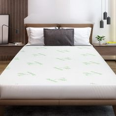 Egan Bamboo Mattress Protector - Online Only - White - Matt Blatt Bed Pads, King Size Quilt, Mattress Brands, Mattress Protector, Dust Mites, Bed Covers, Sofa Bed, Fabric Covered, Bamboo