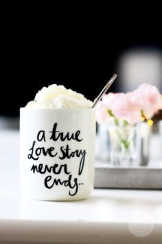"""""""A true love story never ends"""" Love this! Would be cute on a board or canvas"""
