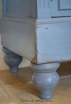 adding furniture legs to a china hutch, chalk paint, painted furniture, I found the feet at Lowe s for 6 98 each