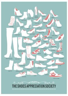 The Shoes Appreciation Society #poster, by Niege Borges | $12 at her etsy shop