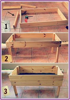 30 Easy Diy Wooden Raised Planter for a simple garden you design yourself… - G. - 30 Easy Diy Wooden Raised Planter for a simple garden you design yourself… – Garden Easy Source by verdiestutess - Raised Garden Bed Plans, Building Raised Garden Beds, Raised Beds, Raised Patio, Garden Table, Garden Boxes, Garden Benches, Diy Jardim, Garden Projects
