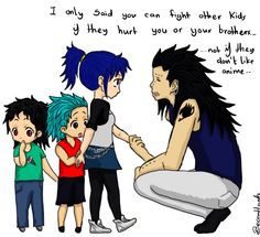 Gajeel and Levy's kids // GAJEEL HOW ARE YOU EDUCATING YOUR CHILDREN??