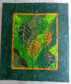 Les feuilles - Technique des courbes - patchwork - Tatiana Alves d'après Gloria Loughman