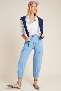 Laurie Cargo Harem Pants by Amadi in Size: Xxs, Women's at Anthropologie Hareem Pants, Vogue Patterns, Sewing Patterns, Jacket Pattern, Apparel Design, Clothes For Sale, Dress Brands, Pattern Fashion, Fashion Forward