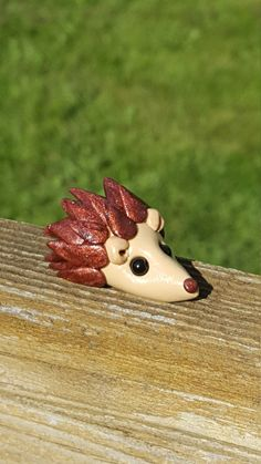 Polymer clay hedgehog by ARAartisticcreations on Etsy