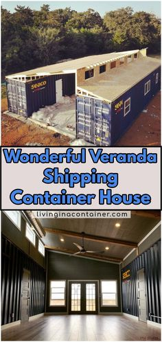 Wonderful Veranda Shipping Container House – USA We continue to discover for you. Our container house on today's tour is from USA. Shipping Container Home Designs, Shipping Container House Plans, Container House Design, Tiny House Design, Shipping Containers, Container Home Plans, Cargo Container Homes, Storage Container Homes, Container Garden