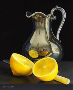 Still life with Silver Jug, Lemon and Knife