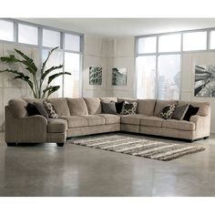 Katisha Platinum Large Modular Sectional w/ Cuddler by Ashley Furniture Sectional Living Room Sets, Modular Sectional Sofa, Living Room Furniture, Home Furniture, Rustic Furniture, Modern Furniture, Cuddler Sectional, Outdoor Furniture, Antique Furniture
