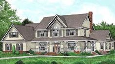 House Plan 96880 | Country   Farmhouse  Traditional    Plan with 3464 Sq. Ft., 5 Bedrooms, 3 Bathrooms, 3 Car Garage
