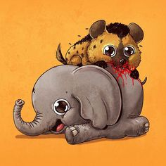 L'illustrateur Alex Solis continue son projet Predator vs. Prey avec une nouvelle série d'illustrations adorables mettant en scène les prédateurs et l