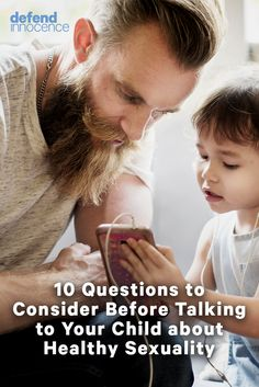 There are certain questions you need to answer before you are ready to talk to your child about sex.