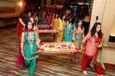 Mehndi Bride Entrance S : Naureen ghazaly s super colorful mayoon mehndi ceremonies