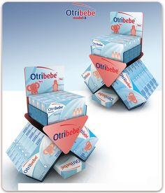 Otribebe on Behance Pos Display, Counter Display, Display Design, Counter Top, Pos Design, Sign Design, Retail Design, Medicine Packaging, Cardboard Display