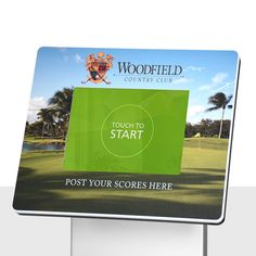 transform the area around your tablet with branding and a call to action using a bezel graphic, like this one for @woodfieldhomes!