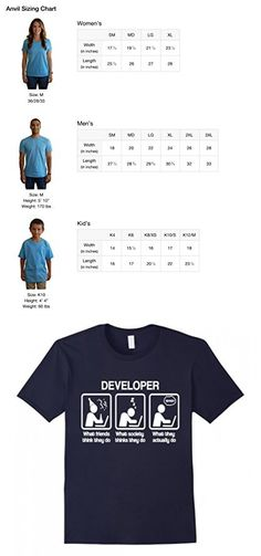 Men's Programmer Shirt, Developer What They Actually Do Funny Gift Medium Navy
