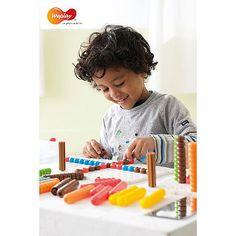 Weplay, Beanstalk, 2D und 3D Kreationen, Megasteckplatte, Kindergarten, Hoher Spielwert