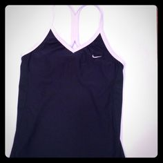 Nike FIT DRY racer back tank top Nike FIT DRY racer back tank top, really good condition wore just a couple of times Nike Tops Tank Tops