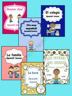 This pack of Spanish elementary lessons includes six lessons that make easier the firsts steps to learn a new language. It includes six lessons: - ¡Buenos días! - Yo soy español - El colegio - La familia - Las horas - Las partes del cuerpo