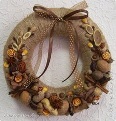 Rustic Christmas, Christmas Crafts, Christmas Decorations, Christmas Ornaments, Jute Crafts, New Year's Crafts, Xmas Wreaths, Autumn Wreaths, Homemade Wreaths