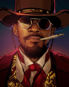 DJANGO Django Unchained fanart by Nikita AbakumovYou can find Quentin tarantino and more on our website.DJANGO Django Unchained fanart by Nikita Abakumov Arte Hip Hop, Hip Hop Art, Tarantino Films, Quentin Tarantino, Pop Art, Django Unchained, Film Movie, Movies, Band Posters