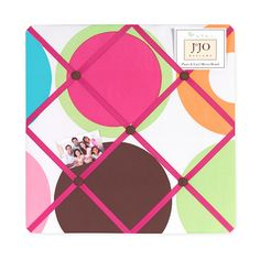 Deco Dot Fabric Memory/Memo Photo Bulletin Board by Sweet Jojo Designs Polka Dot Bedding, Polka Dot Fabric, Picture Frame Store, Picture Frames, Fabric Memo Boards, Art Wall Kids, Wall Art, Childrens Beds, Modern Fabric