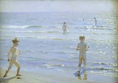 """""""Enfants au bord de l'eau"""", Soren Kroyer"""