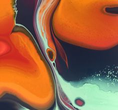 The Big Squeeze Poured fluid acrylic artwork by Nancy Wood