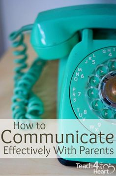 I would love to have a bright turquoise phone -- Answering the phone would be so much fun.I would love to have a bright turquoise phone -- Answering the phone would be so much fun. Parents As Teachers, New Teachers, Classroom Organization, Classroom Management, Classroom Ideas, Parent Teacher Communication, Vintage Telephone, Effective Communication, Vintage Turquoise