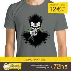 """(EN) """"Joker Ink"""" designed by the astounding 2mz is our NEW T-SHIRT. Available 72 hours, order yours today for only 12€/$14/£10 on WWW.WISTITEE.COM     (FR) """"Joker Ink"""" créé par l'incroyable 2mz est notre NOUVEAU T-SHIRT. Disponible 72 heures, réservez-le dès maintenant pour seulement 12€ sur WWW.WISTITEE.COM     #Joker #LeJoker #HaHaHa #Batman #Arkham #TheJoker #TheDarkKnight #Gotham #sourire #smile #fou #crazy #vilain #villain #DCComics #2mz #wistitee #design #tshirt #limitededition"""