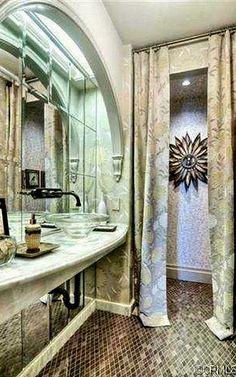 powder room luxury side bath bathroom