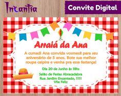 Arte Digital Convite Festa Junina / Festa Julina / Arraiá