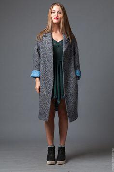 пальто из твида пальто шанель пальто на подкладке пальто синее пальто демисезонное пальто из шерсти пальто дизайнерское пальто AMODAY пальто оверсайз пальто кокон пальто для девушки пальто легкое