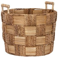 Alonzo Checkered Weave Large Basket | Freedom Furniture and Homewares $99 for 53cm wide & $79 for 45cm