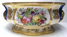 """19th C. Paris Porcelain Centerpiece. Measures - 8 1/2"""" high x 19"""" long x 13"""" deep."""
