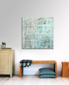 Original Abstract painting  Snow white  City por RonaldHunter, $339.00