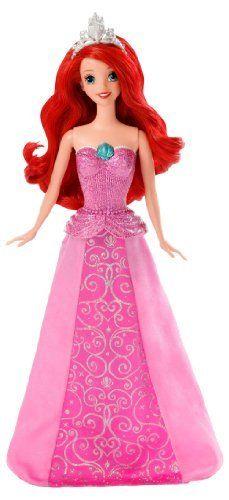 Angelina M. - Disney Princess Mermaid to Princess Singing Ariel Doll, http://www.amazon.com/dp/B00CKH9NXQ/ref=cm_sw_r_pi_awd_Wg-ysb01WKJXS $25