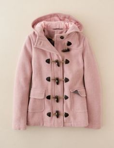 such a cute pink coat! I want it!