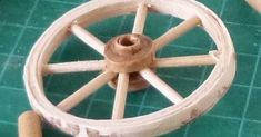 minimanie: The wheels of the cart Wooden Wagon, Wooden Wheel, Quilted Curtains, Festive Crafts, Gypsy Wagon, Wagon Wheel, Barbie World, Miniture Things, Dollhouse Furniture