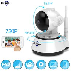 f77c84be624 Home Security IP Camera Wireless Smart WiFi Camera WI-FI Audio Record  Surveillance Baby Monitor HD Mini CCTV Camera Hiseeu offer fantastic  features that