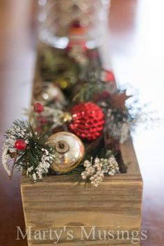 Rustic Christmas Centerpiece by Marty's Musings
