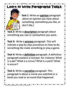Paragraph Writing Tasks