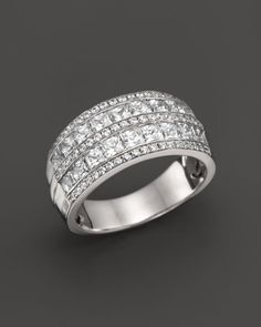 Diamond Multi Row Band Ring in 14K White Gold, 2.0 ct. t.w.