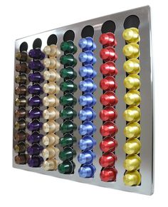 Nespresso Coffee Capsules POD Wall Holder Dispenser Stainless Steel | eBay