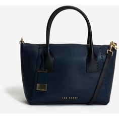 Ted Baker Large Leather Tote Bag ($389) ❤ liked on Polyvore