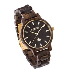- Description - Specifications - Shipping and Returns TEMPUS® Classico Black Sandalwood is Style and Uniqueness all wrapped into one. This men's dress watch exudes class with its golden white numerals Mens Dress Watches, Ethical Brands, Wooden Watch, Wooden Gifts, Graduation Gifts, Christmas Shopping, Fathers Day Gifts, Anniversary Gifts, Unique Gifts