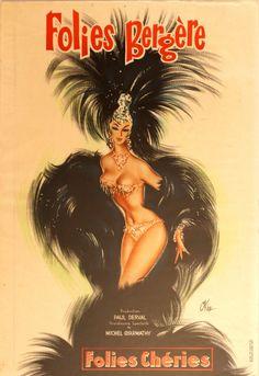 Original Vintage Posters -> Advertising Posters -> Folies Bergere - AntikBar