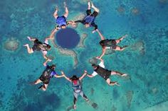skydiving over the Great Barrier Reef :) another option... XD