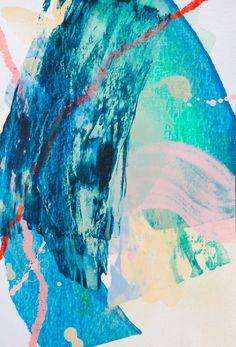 Magic card #12. Acrylic, pastel on paper, 10x14 cm. Acrylic painting.